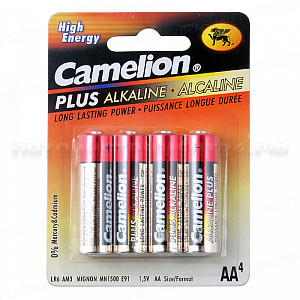 Элемент питания AA: LR6-BC4 ALKALINE PLUS 1,5V CAMELION /4/48/576